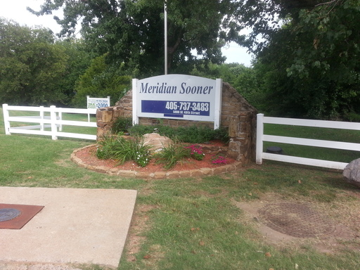 Meridian Sooner Oklahoma City Oklahoma Mobile Homes For Rent For Sale  Entrance Sign