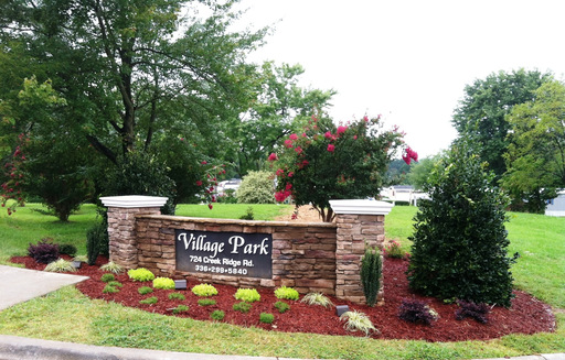 Village Park Rossville Georgia Mobile Homes For Rent Sale Entrance Sign