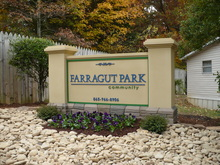 Farragut Park Knoxville Tennessee Mobile Homes For Rent For Sale Entrance Sign