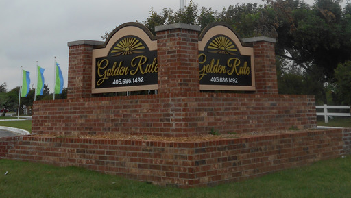 Golden Rule Oklahoma City Oklahoma Mobile Homes For Rent For Sale Entrance Sign Croppsed