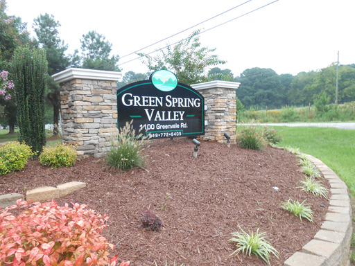 Green Spring Valley Raleigh North Carolina Mobile Homes For Rent For Sale Entrance Landscape