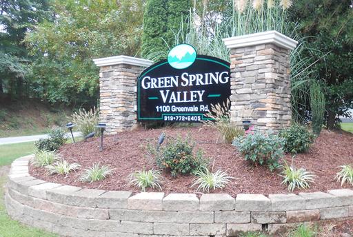 Greenspringvalleyraleighnorthcarolinamobilehomesforrentforsale entrancesign2