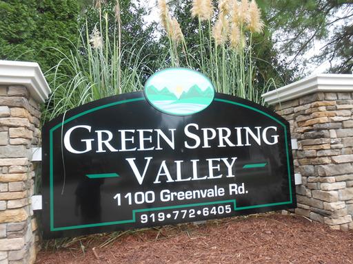 Greenspringvalleyraleighnorthcarolinamobilehomesforrentforsale entrancesign