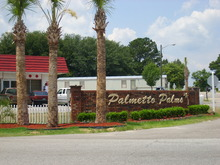 Palmetto Palms Columbia South Carolina Mobile Homes For Rent For Sale Entrance Sign