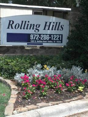Rolling Hills Dallas Texas Mobile Homes For Rent For Sale Entrance Sign