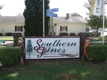 Southern Pines Florence South Carolina Mobile Homes For Sale For Rent Entrance Sign