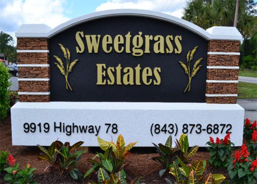 Sweetgrass Estates Ladson South Carolina Mobile Homes For Rent For Sale Entrance Sign