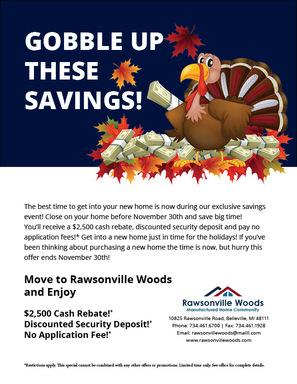 Gobble up savings flyer